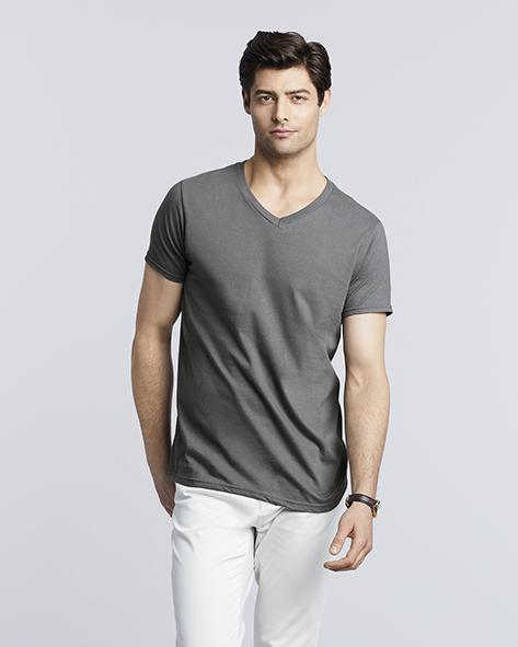 108.09 Gildan Mens Sofstyle V Neck T Shirt 64V00 PAS Gildan Textieldrukkerij Antwerpen