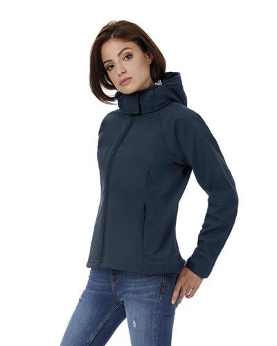 462.42 Hooded Softshell Women JW937 B&C Pasprint Deurne