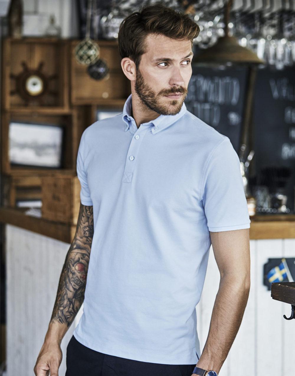 509.54 Fashion Luxury Stretch Polo 1410 Tee Jays Pasprint Antwepen Druktechnieken