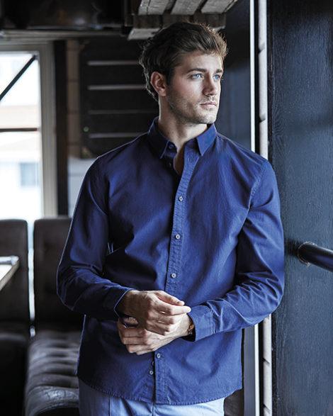 707.54 Urban Oxford Shirt 4010 Herenhemd Tee Jays Pasprint Jeanshemd Bedrukken Antwerpen Borduuratelier Druktechnieken
