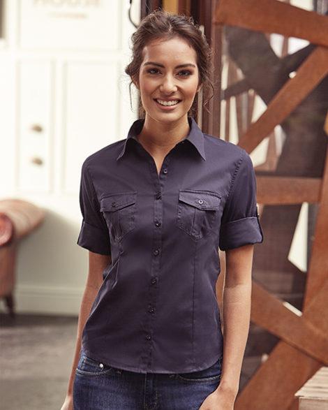 748.00 Ladies Roll 3-4 Sleeve Shirt R-265F-0 Russell Pasprint Antwerpen Print T-Shirt