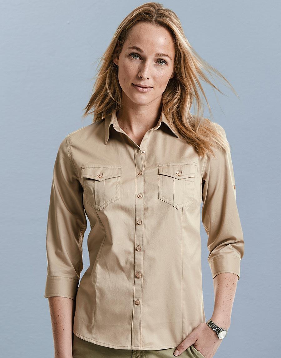 748.00 Ladies' Roll 3/4 Sleeve Shirt R-918F-0