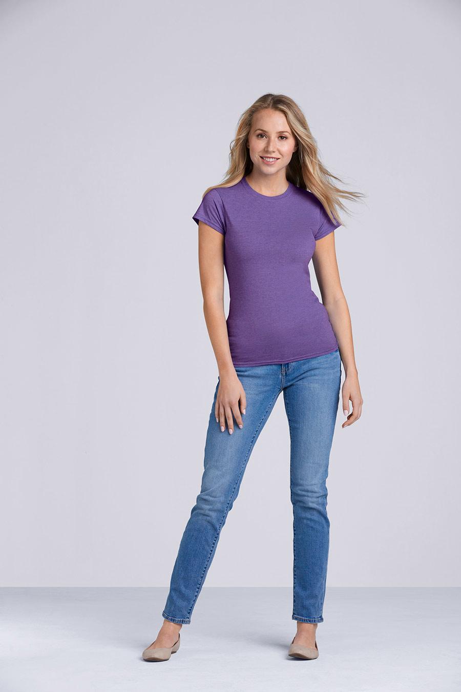 Gildan 109.09 Ladies Softstyle® V-Neck T-Shirt 64V00L