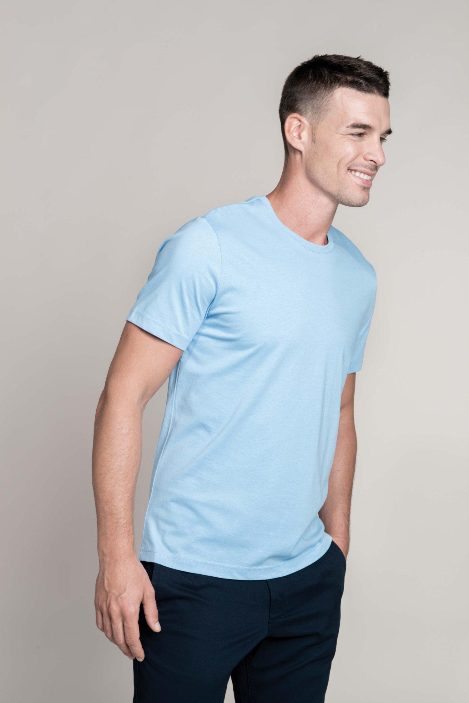 K356 T-Shirt Ronde Hals Korte Mouwen PAS Print Kariban Goedkope T Shirt