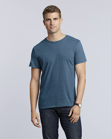 150.09 Softstyle Ring Spun T-Shirt 64000 Puff Techniek Pasprint