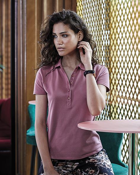 513.54 Ladies Luxury Stretch Polo 145 Tee Jays Personaliseren van Bedrijfskledij Pasprint