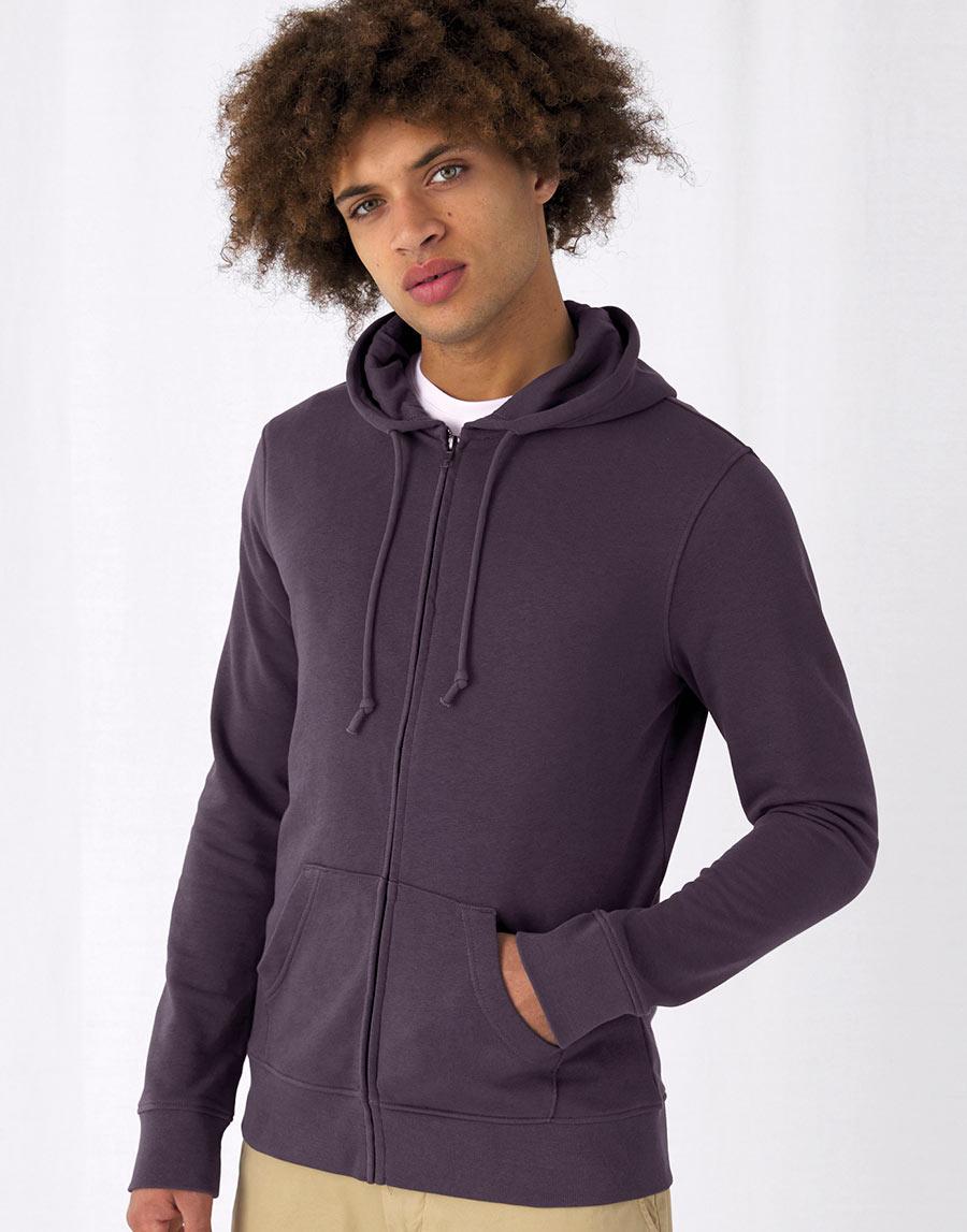 WU35B Organic Zipped Hooded