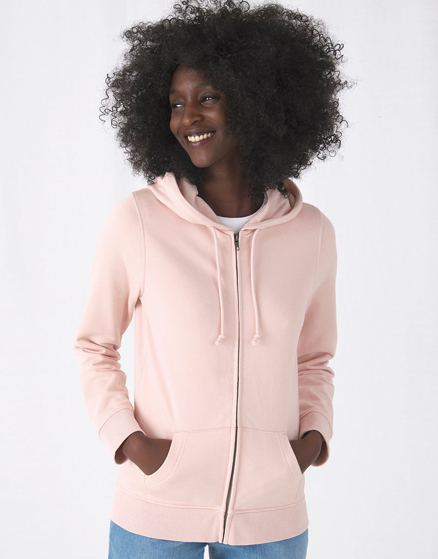 WW36B Organic Zipped Hooded /Women